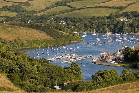 attractive setting of Salcombe
