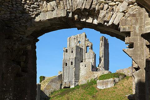 Photo of Corfe Castle in Jurassic Coast (Dorset region)