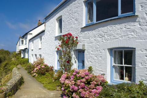 Houses in Coverack, Cornwall