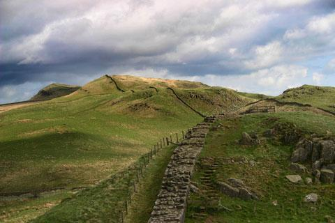 Photo of Hadrians Wall in Northumberland National Park (Northumberland region)