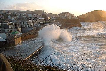 Ilfracombe during a storm