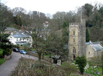 church and village of Salcombe-Regis, Devon